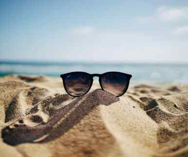 Ein Strand auf Zypern